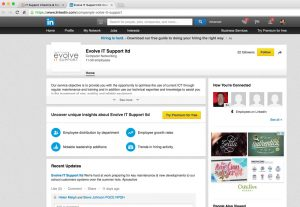 social media linkedin set up